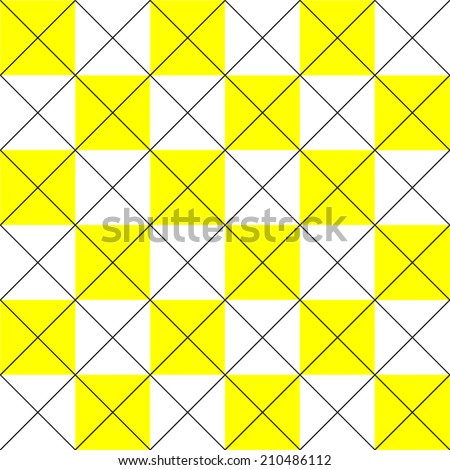 repeating seamless tile pattern with criss-cross - stock vector
