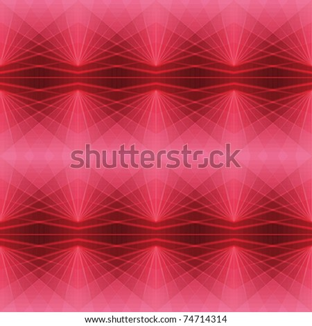 Repeating vector background with red diamonds - stock vector