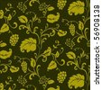 Repeating vector floral pattern. The pattern is included as a seamless swatch. Very easy to edit. - stock
