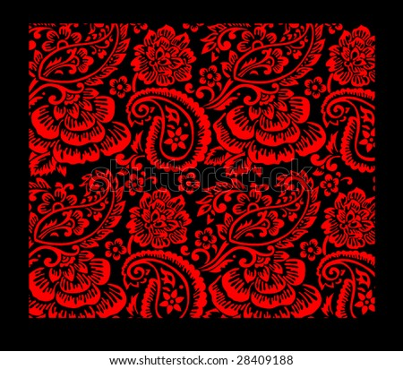 repeating vector pattern with asian motifs. - stock vector