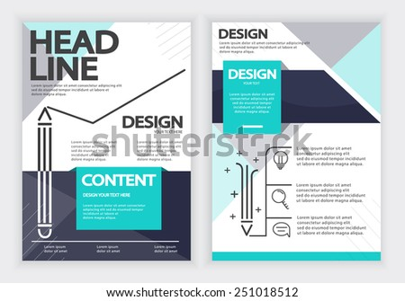 Report , Flyer &  Brochure Vector Design Template, Layout Design , A4 Paper Design Template , Fully Layered Design / Vector illustration - stock vector