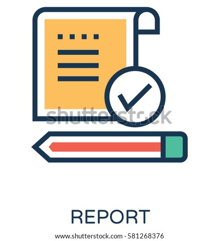 Report Vector Icon เวกเตอร์สต็อก 539921140 - Shutterstock