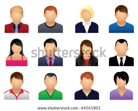 representing people icon - stock vector