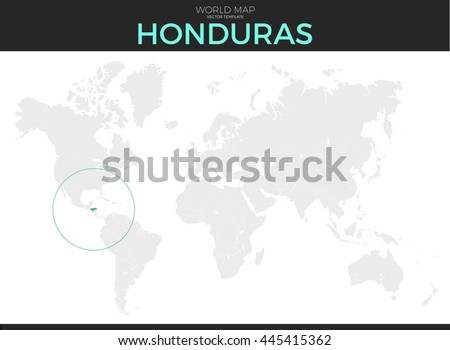 Republic honduras location modern detailed vector stock vector republic of honduras location modern detailed vector map all world countries without names vector gumiabroncs Images