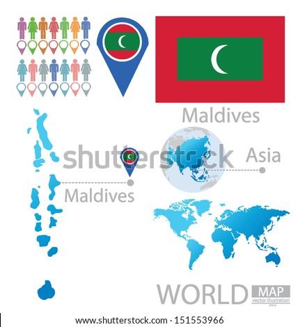 Maldives Map Stock Images RoyaltyFree Images Vectors - Republic of maldives map
