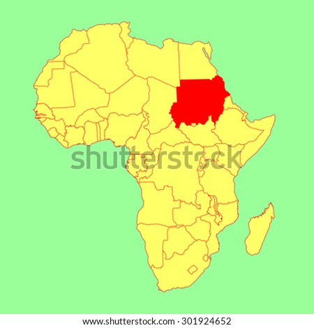 Democratic Republic Congo Vector Map Isolated Stock Vector - Republic of the sudan map