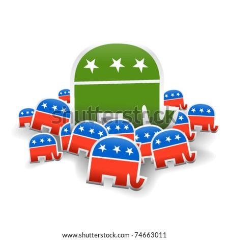 Republican Big Money - Vector Illustration - stock vector