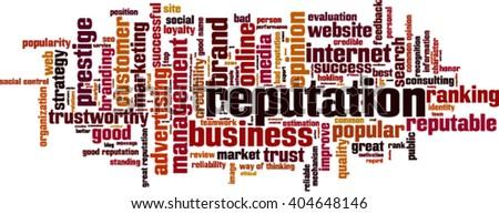 Reputation word cloud concept. Vector illustration - stock vector