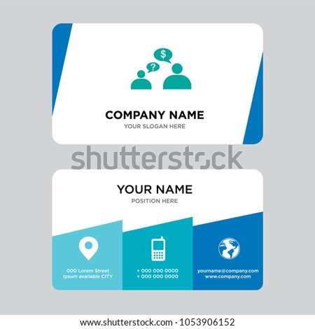 Request quote business card design template stock vector 1053906152 request a quote business card design template visiting for your company modern creative and reheart Images
