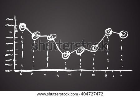 Research tab go point histogram draft isolated on black. Freehand line handdrawn picture icon sketch in art scrawl quirky style chalk on college class blackboard. Close-up view with space for text - stock vector
