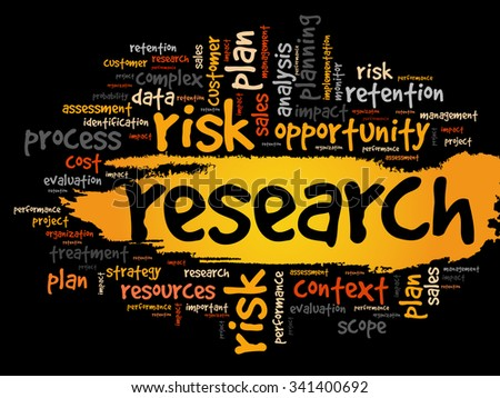 Research word cloud, business concept background - stock vector