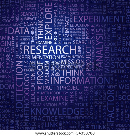 RESEARCH. Word collage. Vector illustration. - stock vector