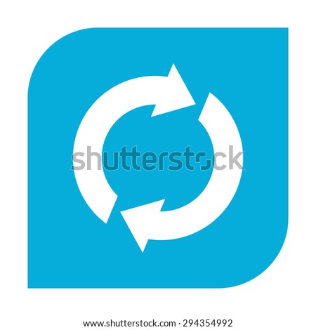 Reset button, reload arrows - stock vector