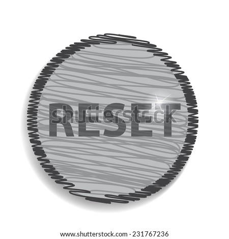 reset circular icon - stock vector