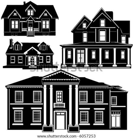 residences vector 1 - stock vector