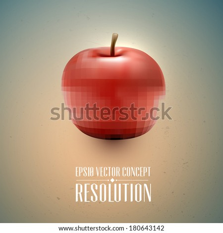 Resolution Concept - Apple, Health - EPS10 Layered Vector Background - stock vector