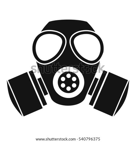 respirator gas mask icon simple illustration stock vector 2018 rh shutterstock com gas mask cartoon picture black gas mask cartoon