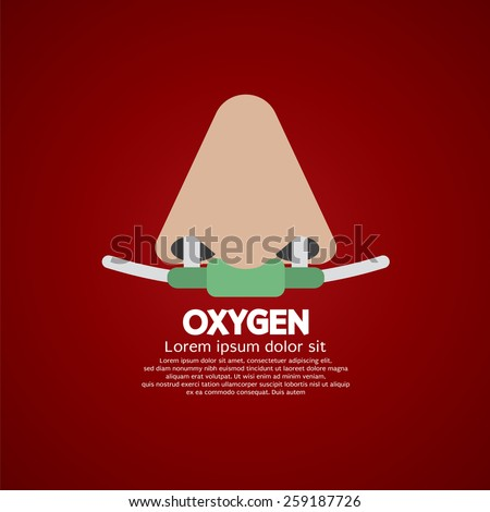 Respiratory Oxygen Nasal Catheter Vector Illustration   - stock vector