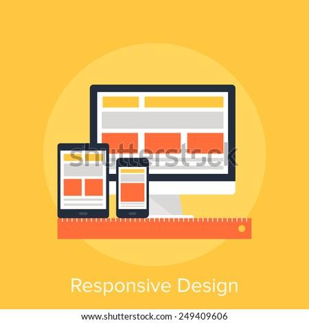Responsive Design - stock vector