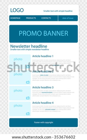 simple newsletter templates