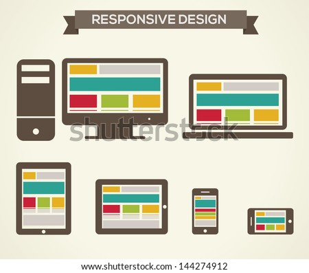 Responsive Web Design - stock vector