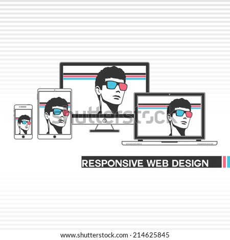 responsive web design templates stock vector 214625845 shutterstock