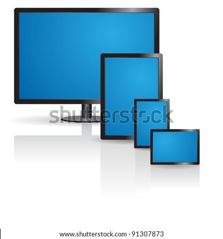 Responsive website design icon, eps10 vector - stock vector