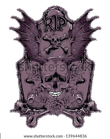 Rest in peace - stock vector