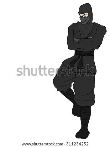 rest ninja - stock vector