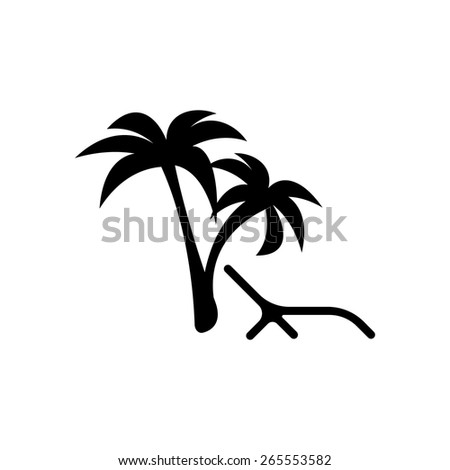 rest under a palm tree - stock vector
