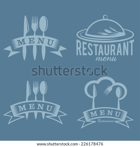 restaurant and menu elements set - stock vector