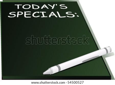 Restaurant Board - vector illustration - stock vector