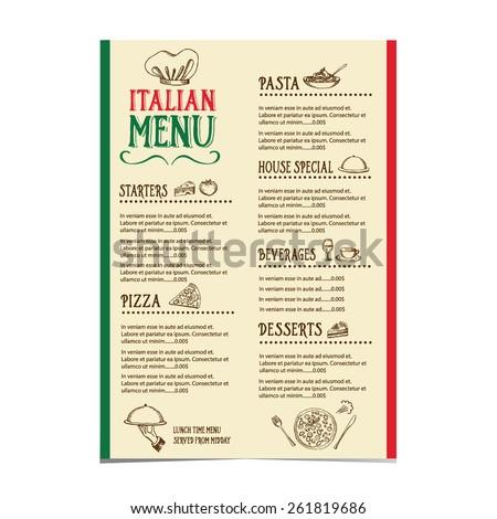 italian menu stock images royalty free images vectors
