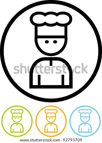 Restaurant chief. Cook - Vector icon