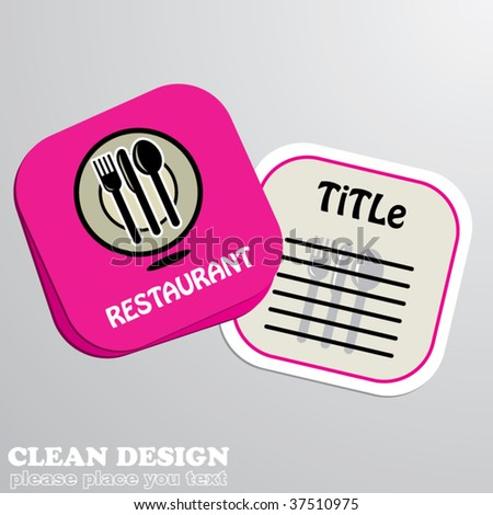 restaurant concept design card - stock vector