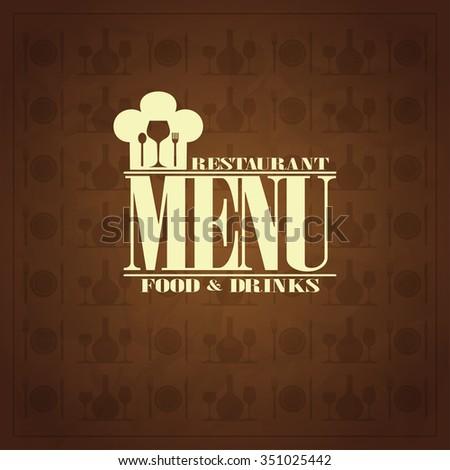 Restaurant food and drinks , retro menu design style - stock vector