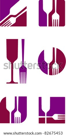 restaurant icon, logo design - stock vector