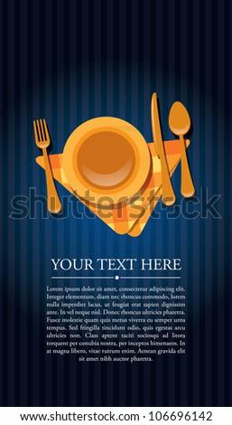 Restaurant invitation - stock vector