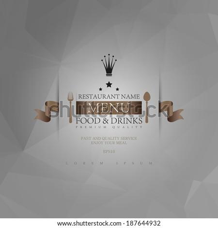 Restaurant menu. - stock vector