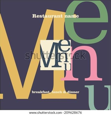 restaurant menu - stock vector