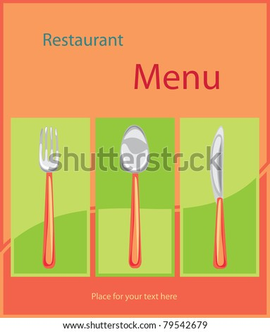 Restaurant menu background. Summer style - stock vector