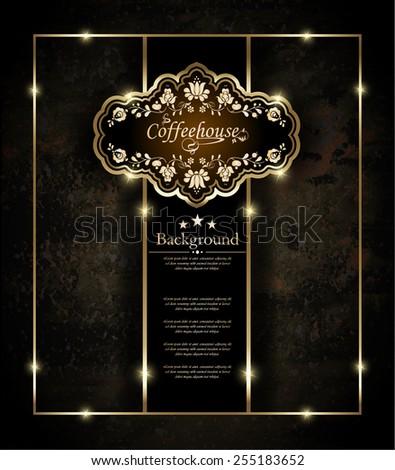Restaurant menu, bar, coffeehouse, vector. - stock vector