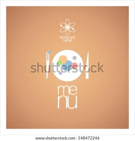 Restaurant menu card design template for molecular gastronomy. - stock vector