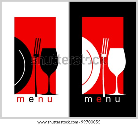 Restaurant Menu Card Design template. Long format.