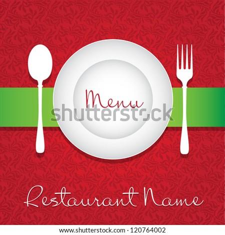 Restaurant Menu Card Design. Vector template - stock vector