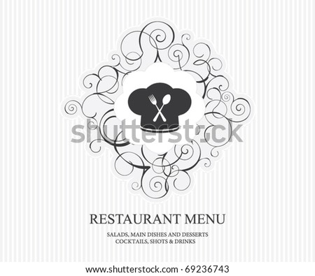 Restaurant menu concept design - stock vector