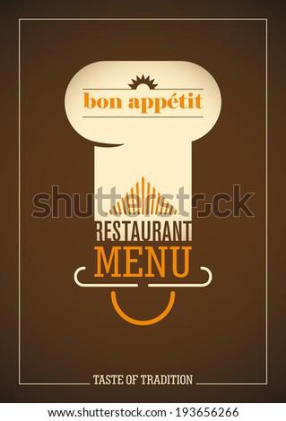 Restaurant menu cover design. Vector illustration. - stock vector