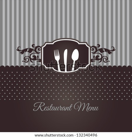 Restaurant menu cover in chocolate brown