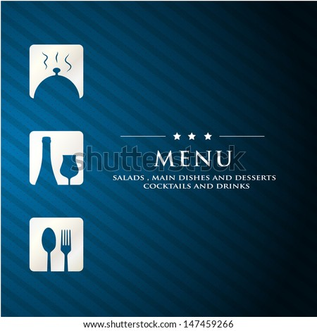 Restaurant menu cover template.