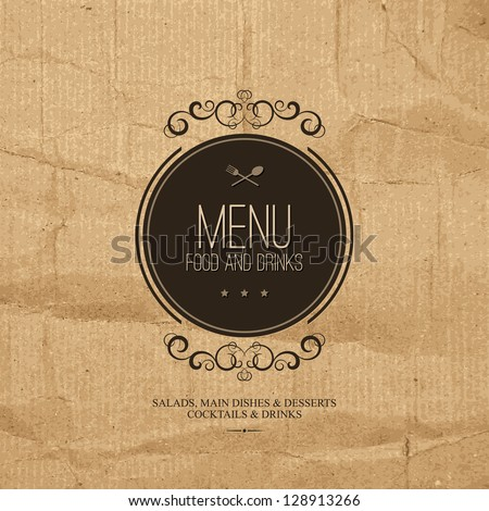 Restaurant menu design - stock vector